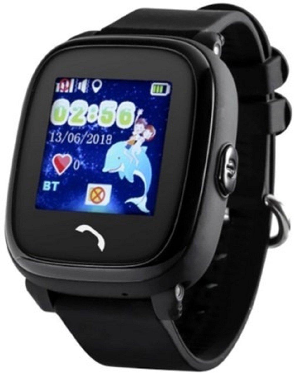 Детские телефон-часы с GPS трекером GOGPS ME K25 Черные фото