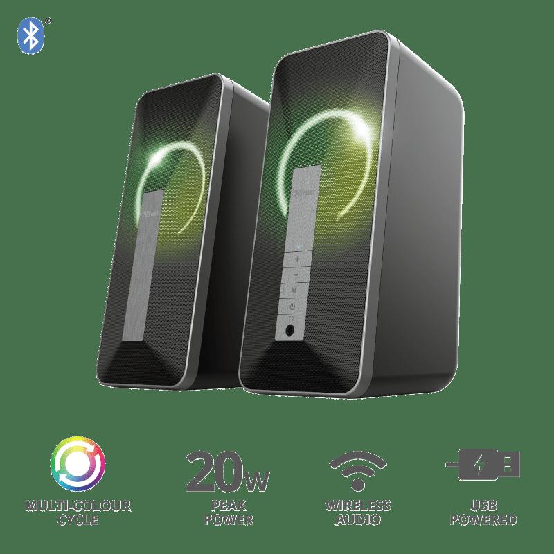 Акустична система Trust 2.0 Arva Illuminated Bluetooth Black (23820_TRUST) фото5