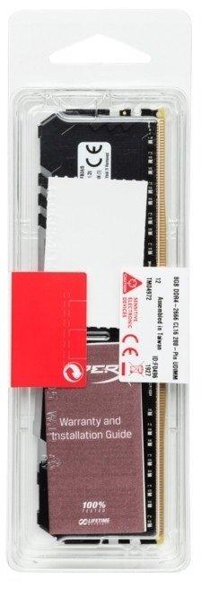 Пам'ять для ПК Kingston DDR4 3600 16GB HyperX Fury RGB (HX436C18FB4A/16)фото6