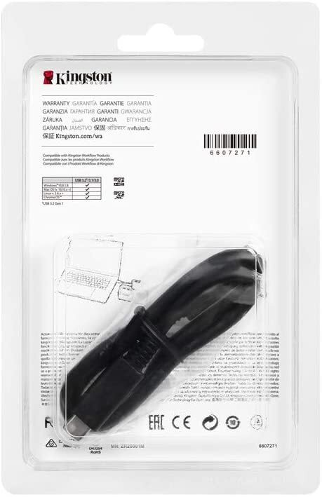 Кардридер Kingston Workflow Dual-Slot microSDHC/SDXC UHS-II Card Reader (WFS-SDC) фото