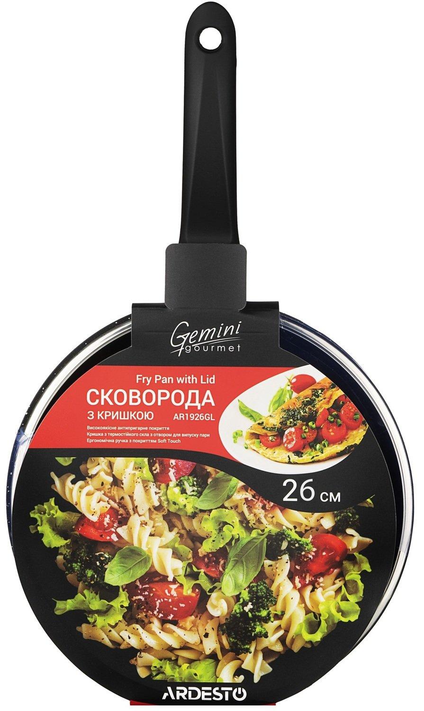 Сковорода Ardesto Gemini Gourmet с кришкой, алюминий, 26 сантиметров (AR1926GL) фото 7