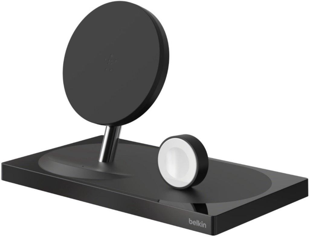 Беспроводное ЗУ Belkin 2-in-1 Wireless Pad/Stand/Apple Watch Black (F8J234VFBLK-APL) фото 2