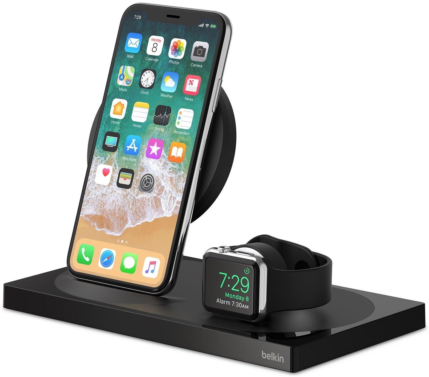 Беспроводное ЗУ Belkin 2-in-1 Wireless Pad/Stand/Apple Watch Black (F8J234VFBLK-APL) фото 5