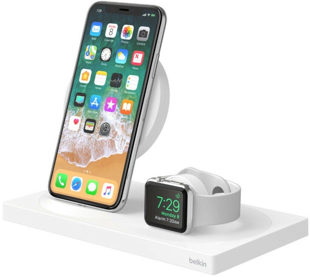 Беспроводное ЗУ Belkin 2-in-1 Wireless Pad/Stand/Apple Watch White (F8J234VFWHT-APL) фото 5