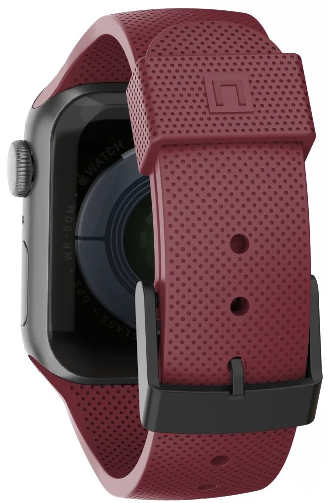 Ремешок UAG для Apple Watch 44/42 Dot Silicone Aubergine фото