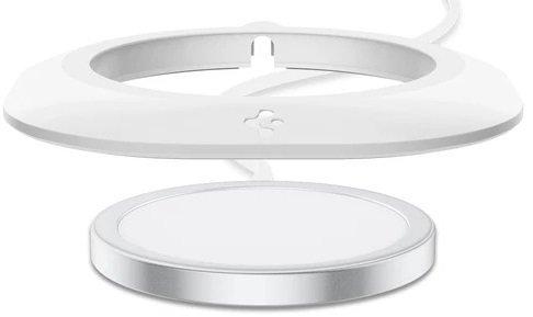 Держатель Spigen Mag Fit для MagSafe Charger Pad White фото 4