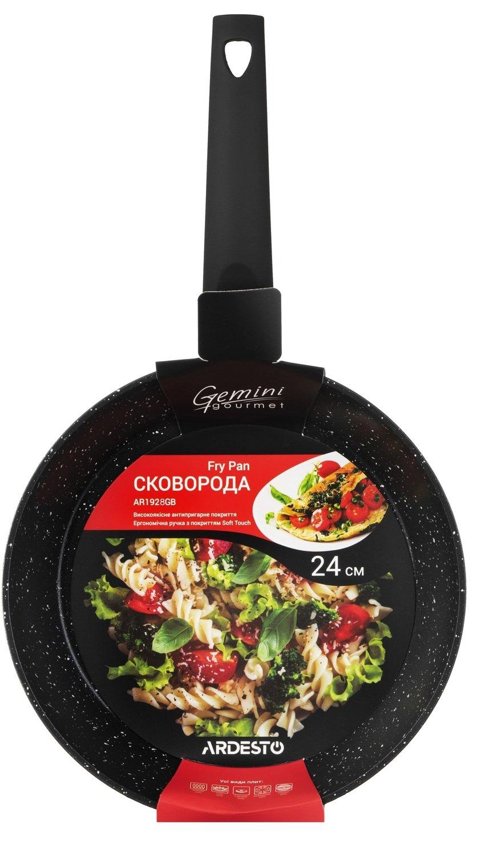 Сковорода Ardesto Gemini Gourmet чорний 24 см (AR1924GB) фото 5