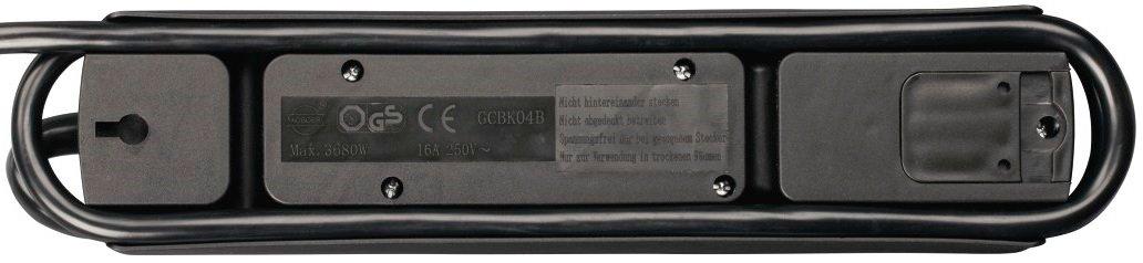 Сетевой удлинитель НАМА TIDY-Line 00137364 4XSchuko 3G*1.5мм 1.5м Black фото 4