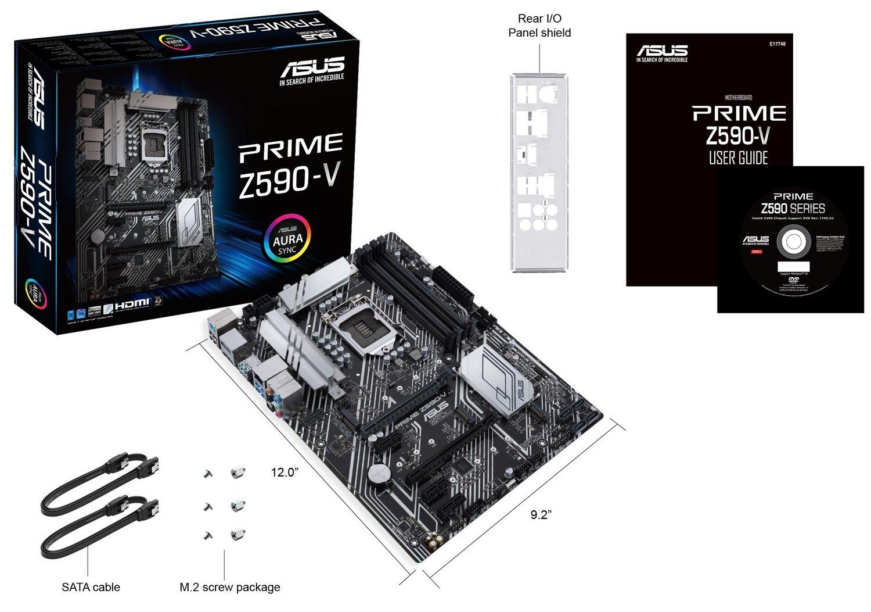 Материнська плата ASUS PRIME_Z590-V-SI s1200 Z590 4xDDR4 M.2 DP-HDMI BULK ATXфото