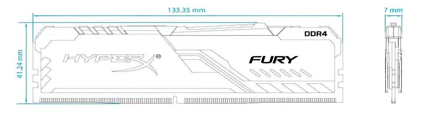 <p>Пам'ять до ПК Kingston DDR4 3600 64GB KIT (16GBx4) HyperX Fury Black</p>фото5