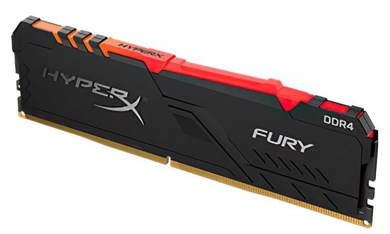 <p>Пам'ять до ПК Kingston DDR4 3600 64GB KIT (16GBx4) HyperX Fury Black</p>фото3