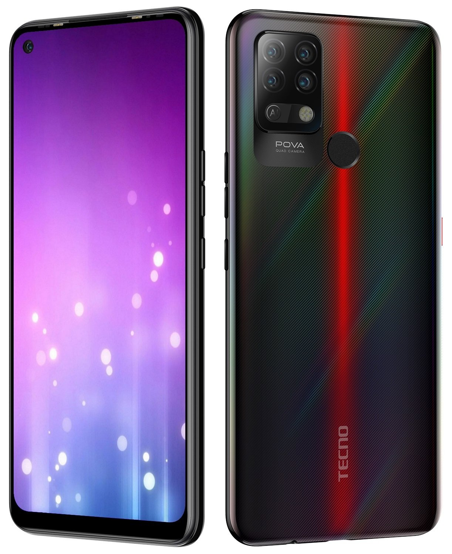 Смартфон TECNO Pova (LD7) 6/128Gb DS Dazzle Black фото