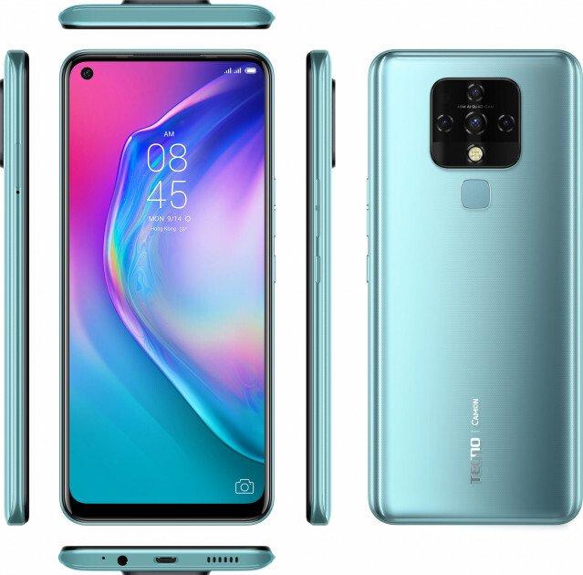 Смартфон TECNO Camon 16 SE (CE7j) 6/128Gb DS Purist Blue фото 5