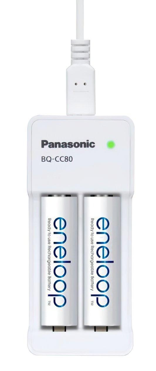 Зарядний пристрій Panasonic Compact Charger USB + Eneloop 2AA 1900 mAh NI-MH (K-KJ80MCC20USB)фото