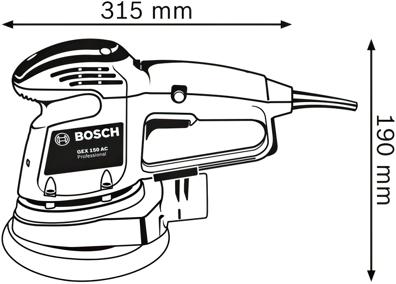 Шлифмашина эксцентриковая Bosch GEX 34-150 (0601372800) фото