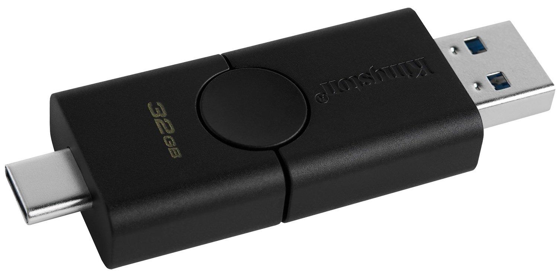 Накопичувач Kingston 32GB USB 3.2 + Type-C DT Duo (DTDE/32GB)фото2