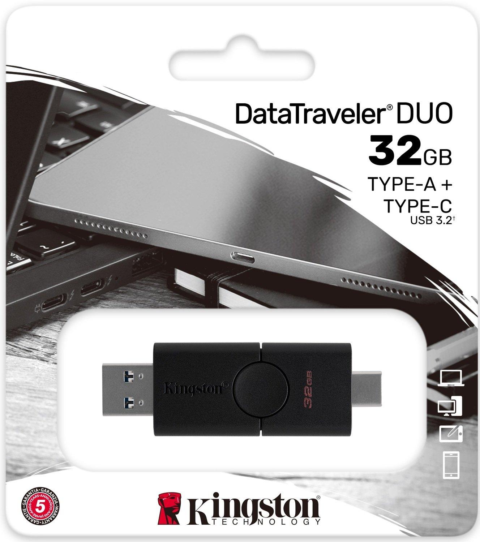 Накопичувач Kingston 32GB USB 3.2 + Type-C DT Duo (DTDE/32GB)фото5
