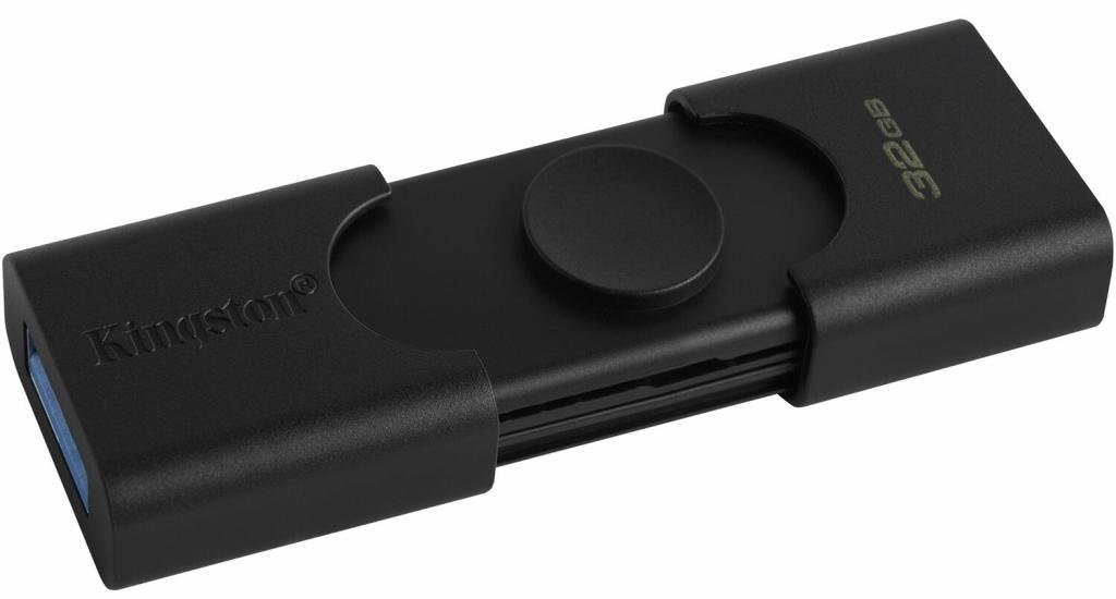 Накопичувач Kingston 64GB USB 3.2 + Type-C DT Duo (DTDE/64GB)фото3