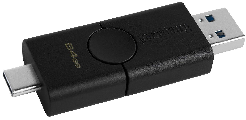 Накопичувач Kingston 64GB USB 3.2 + Type-C DT Duo (DTDE/64GB)фото2