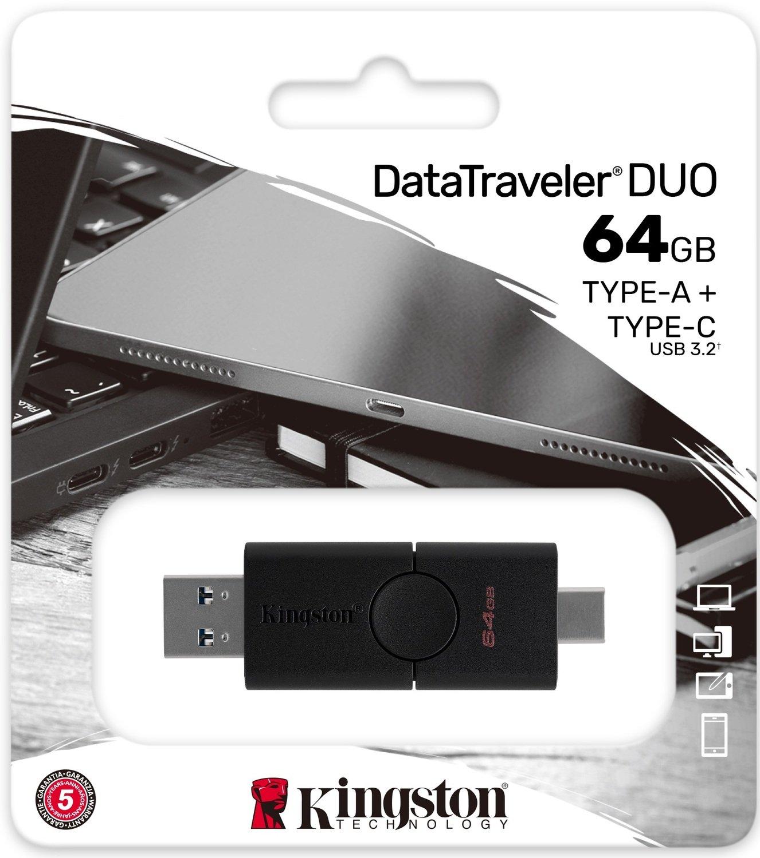 Накопичувач Kingston 64GB USB 3.2 + Type-C DT Duo (DTDE/64GB)фото5