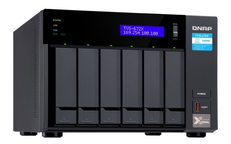 Мережеве сховище QNAP TVS-672X-I3-8G (TVS-672X-I3-8G)фото