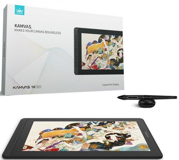 Графічний планшет Huion Kamvas 16 GS1562 Cosmo Blackфото