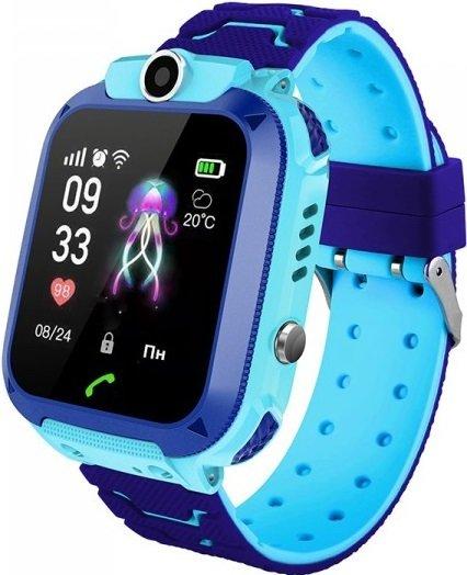 Детские GPS часы-телефон GOGPS ME K16S Синие (K16SBL) фото