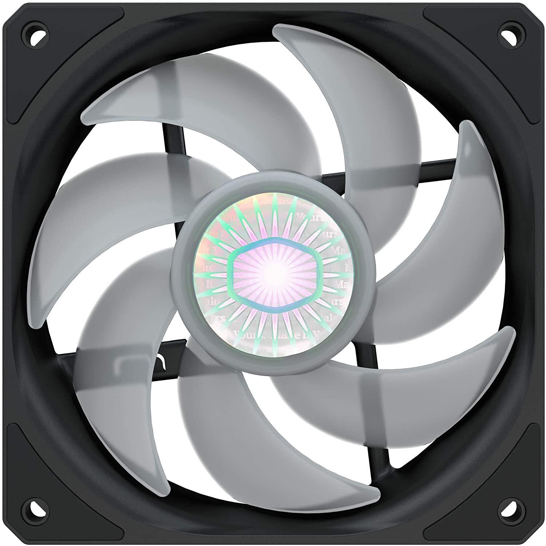Корпусный вентилятор Cooler Master SickleFlow 120 RGB Sync,120мм,650-1800об/хв,Single pack w/o HUB (MFX-B2DN-18NPC-R1)фото