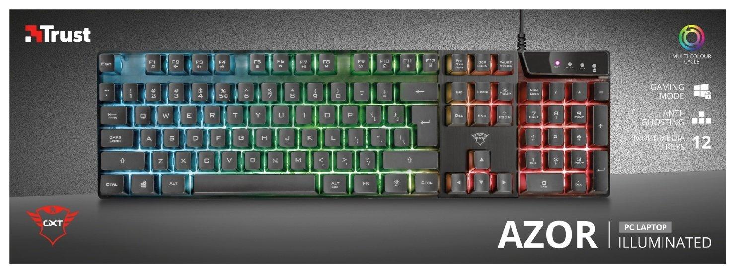 Игровая клавиатура Trust GXT835 Azor USB Black (23651) фото 7