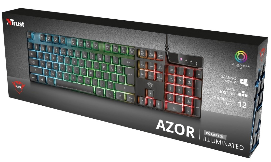 Игровая клавиатура Trust GXT835 Azor USB Black (23651) фото 8