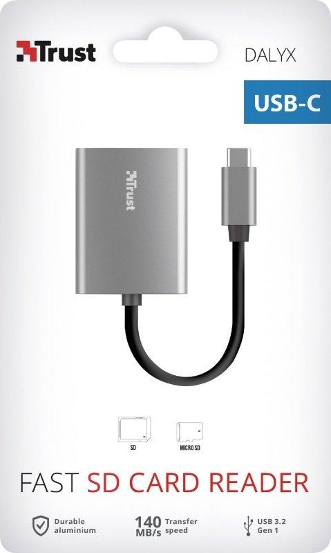 Кардрідер Trust Dalyx Fast USB-C Aluminium (24136)фото6