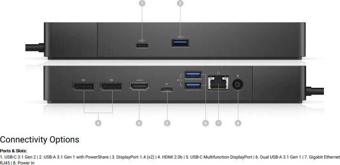 Порт-реплікатор Dell WD19S, 130W (210-AZBX)фото6