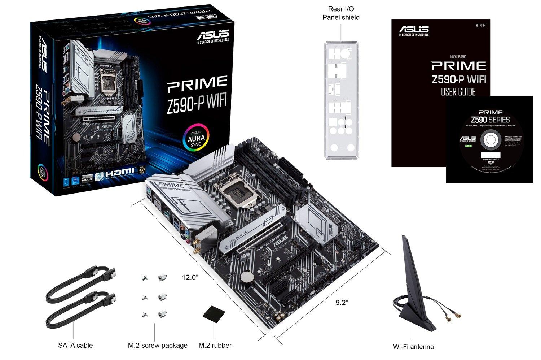 Материнська плата ASUS PRIME_Z590-P_WIFI s1200 Z590 4xDDR4 M.2 DP-HDMI Wi-Fi !!! BT ATXфото