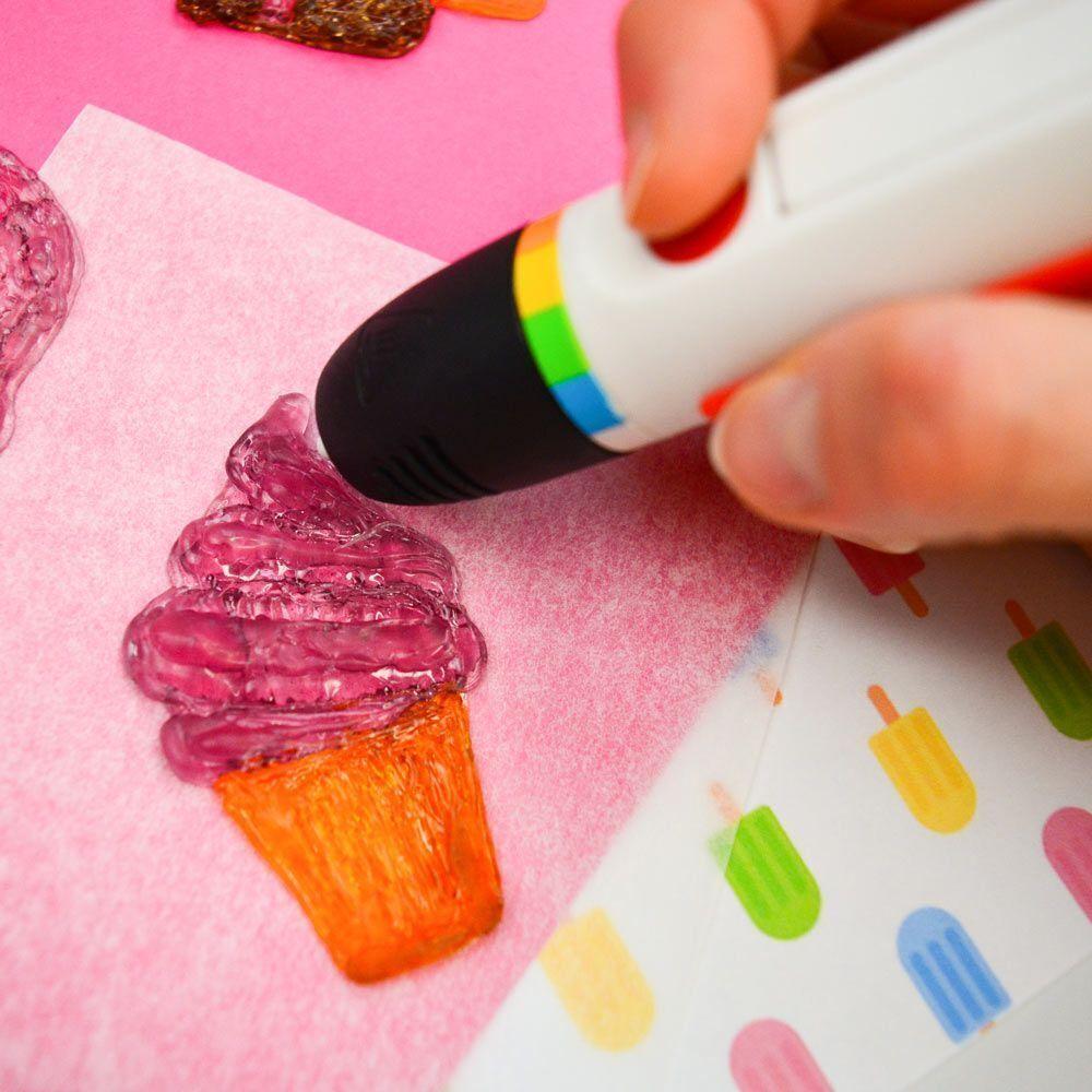 Набор картриджей для 3D ручки Polaroid Candy pen, клубника, розовый (40 шт) фото
