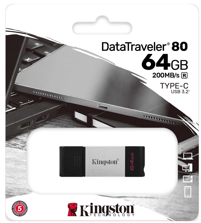 Накопитель Kingston DT80 USB-C 3.2 64GB (DT80/64GB)фото5