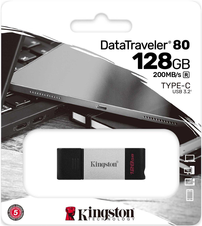 Накопитель Kingston DT80 USB-C 3.2 128GB (DT80/128GB) фото