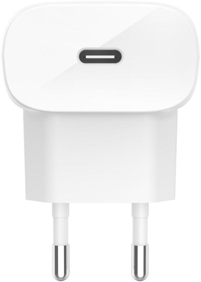 Мережевий зарядний пристрій Belkin Home Charger 20W USB-C + Lightning Cable 1.2m, Whiteфото