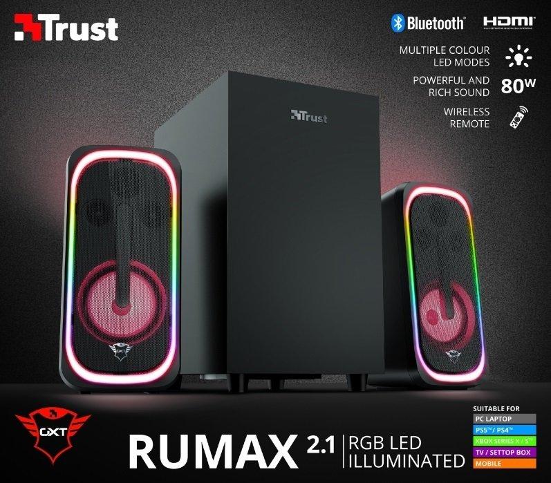 Акустическая система Trust 2.1 GXT 635 Rumax RGB Black (23927) фото