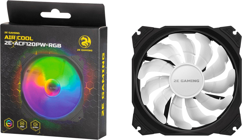 Вентилятор для корпуса 2E GAMING AIR COOL (ACF120PW-RGB) (2E-ACF120PW-RGB) фото