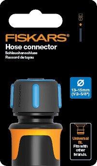 "Коннектор для шланга 13-15мм (1/2-5/8"") Fiskars Watering, 11,6 см, 30г фото"