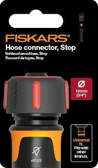"""Коннектор для шланга с автостопом 19мм (3/4"""") Fiskars Watering, 11,6 см, 30г фото"""