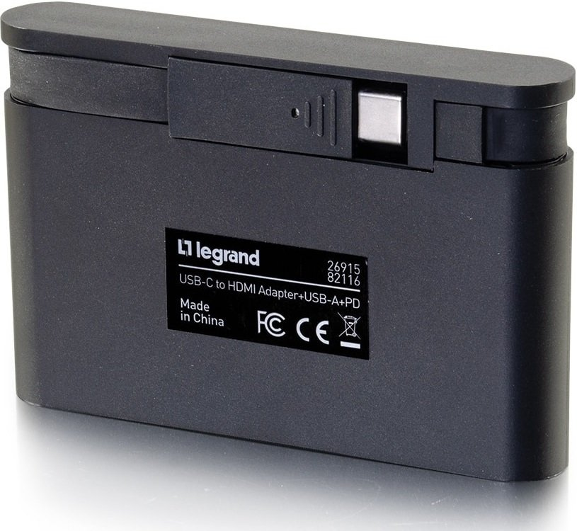 Док станция C2G USB-C на HDMI, USB Type A Power Delivery до 100W (CG82116) фото