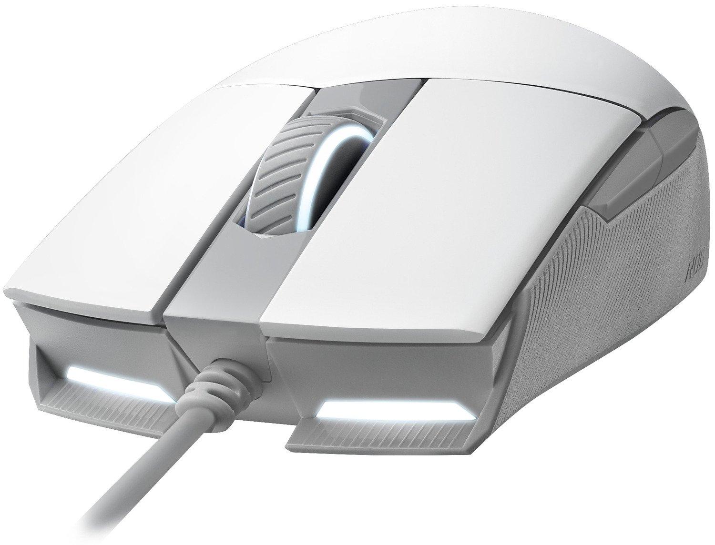 Ігрова миша Asus STRIX IMPACT II ML USB RGB White (90MP02C0-BMUA00)фото