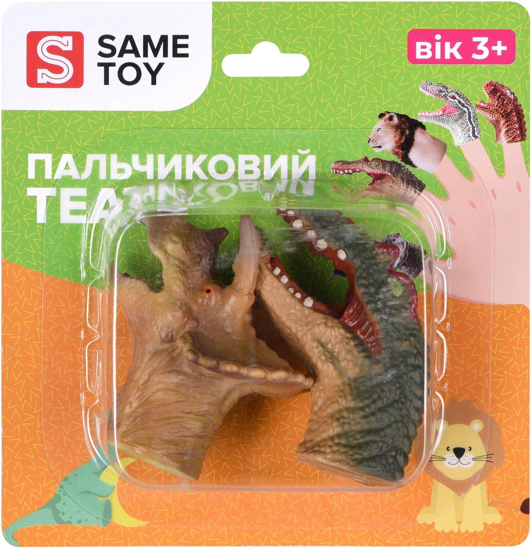 Игровой набор Same Toy Пальчиковый театр 2 ед, Спинозавр и Трицератопс X236Ut-4 фото