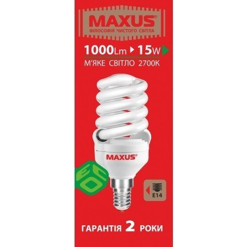 Энергосберегающая лампа Maxus 1-ESL-007-1 (1-ESL-007-1) фото