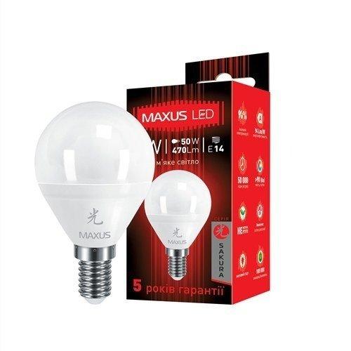 Светодиодная Лампа MAXUS G45 F 5W 3000K 220V E14 AP (1-LED-439) (1-LED-439) фото 2