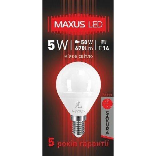 Светодиодная Лампа MAXUS G45 F 5W 3000K 220V E14 AP (1-LED-439) (1-LED-439) фото 3