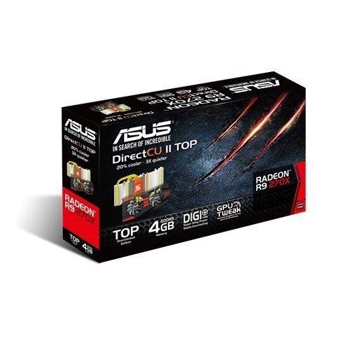 ≡ Видеокарта ASUS Radeon R9 270X 4GB DDR5 DirectCU II Top