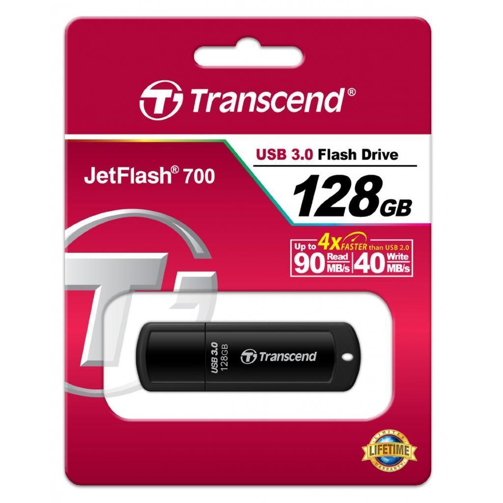 Накопичувач USB 3.0 TRANSCEND JetFlash 700 128GB (TS128GJF700) фото