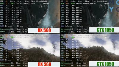 Какая видеокарта лучше — NVidia GeForce GTX 1050 или AMD Radeon RX 560